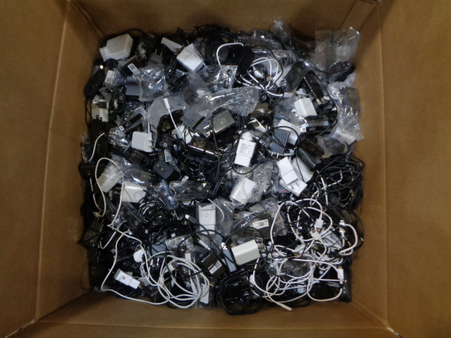Misc. Box of Mobile Accessories Salvage
