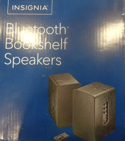 Insignia Bookshelf Speakers - Tested Working