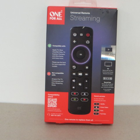 One For All Streaming Remotes - Returns