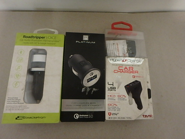Assorted Car Chargers & FM Transmitters - Open Box