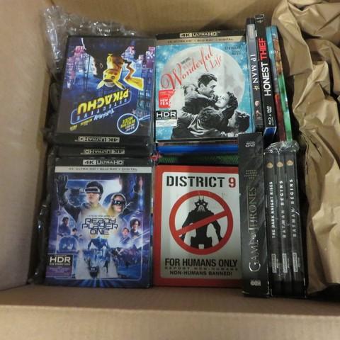 Blu-ray, Ultra HD, DVD Movies - Open Box