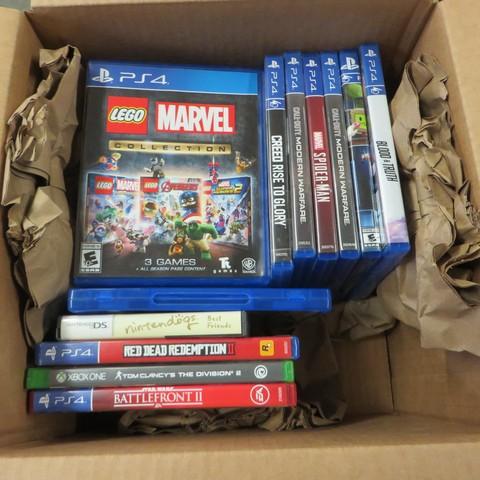 Video Games (XBox, Nintendo, PS4) - Open Box
